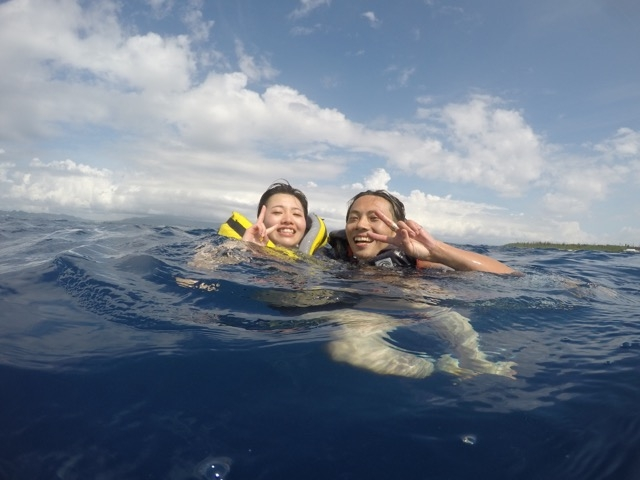 バナナボート乗りながら落水